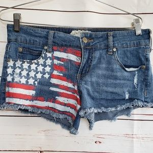 Altar'd state denim American flag Jean shorts 7 28